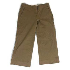 J. Crew Patio Pant in Two Way Stretch Cotton Tan